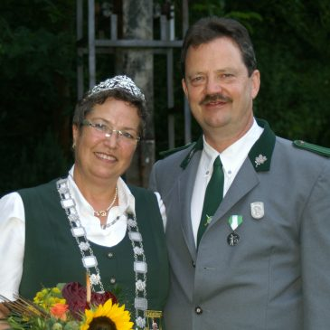 Schützenkönigin 2014 Gabriele Rockenfeller-Dietz mit Ehemann Harald Dietz