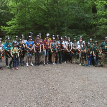 Jungschützen des Bezirk Wied im Kletterpark